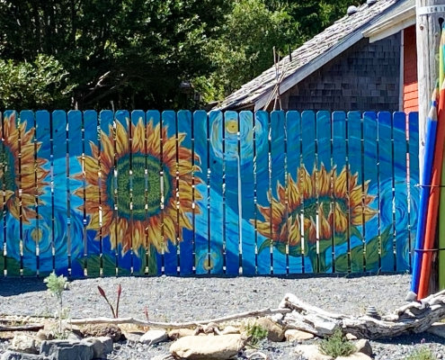 Sunflower Mural by Kathee Woods