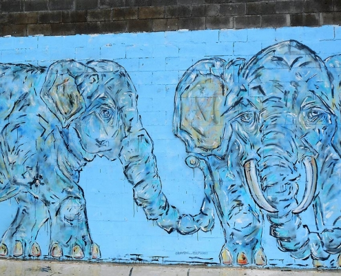 Roaming Elephant Mural, Port Orford, OR